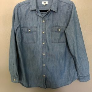 Old Navy Chambray Button Up Shirt M